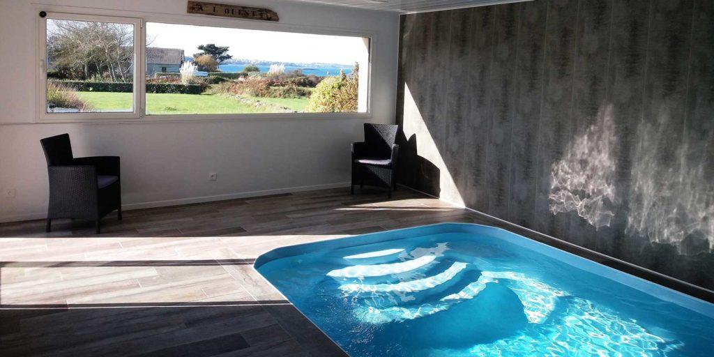 panorama vue mer de la piscine
