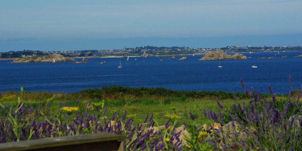 vue sur la baie de Morlaix de la terrasse